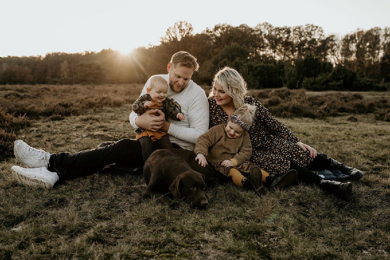 Familie Fotoshootings herfst avond zon