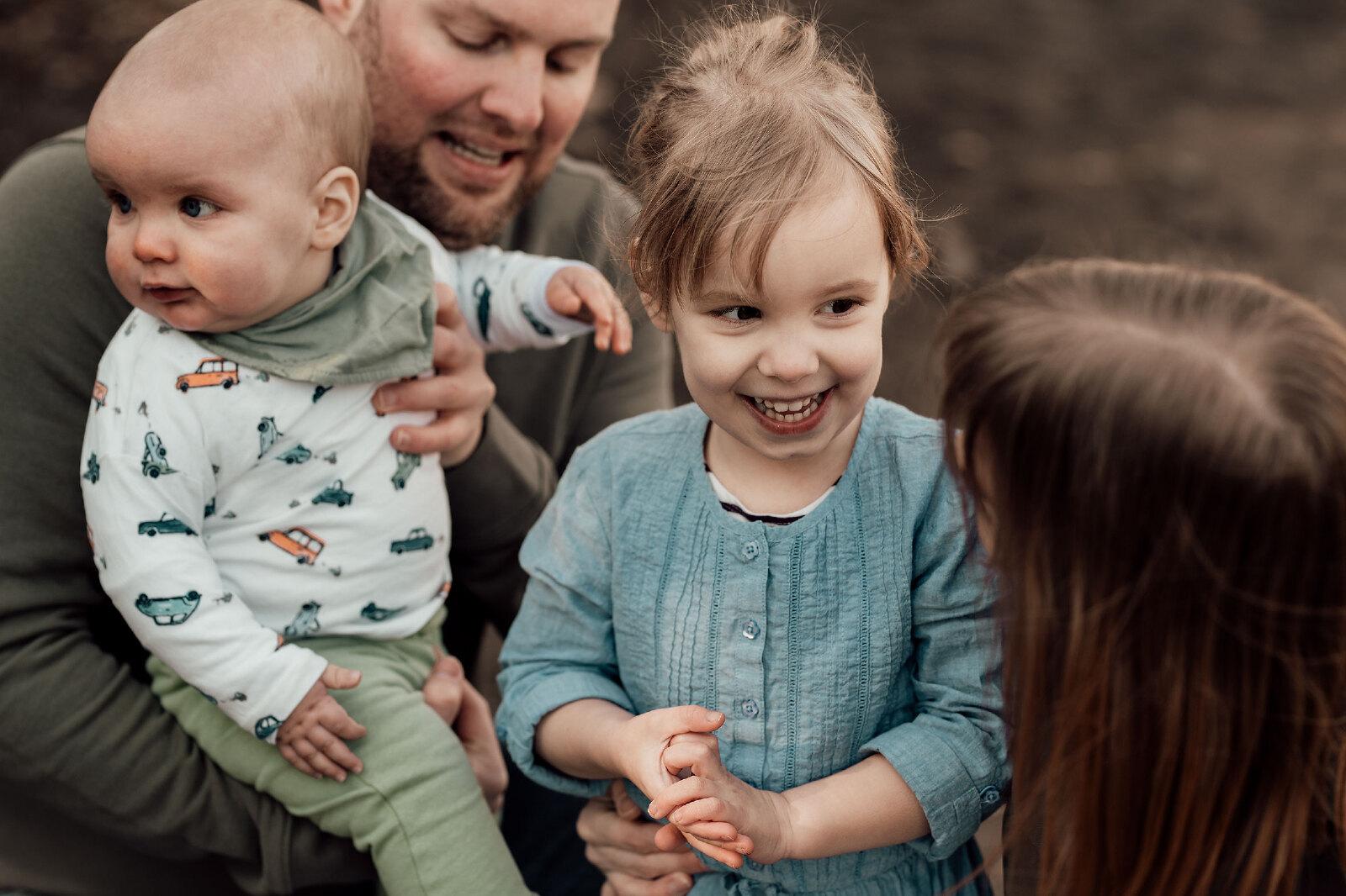 Kinderfotografie meisje lachend